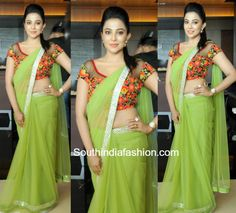 Parvathy Nair in a Green saree photo