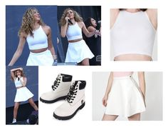 """Jade Thirlwall Performing in Japan"" by little-mix-fashionlover ❤ liked on Polyvore featuring American Apparel and Timberland"