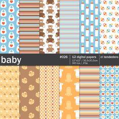 Digital paper pack for babies.