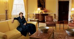 First Lady   Laura Bush    Photographed by Annie Leibovitz, Vogue, January 2005