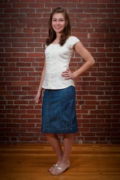 Casual Denim Skirt - Paulina Carmel #modest #modesty #christian