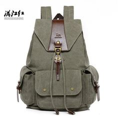 55c82ee4aa16 New Vintage Canvas Backpack Retro Male Students School Bags Fashion Man  Double Shoulder Bags Casual Backpack