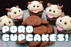 Let's Make! LEAGUE OF LEGENDS PORO CUPCAKES!