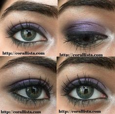 Tutorial : Kareena Kapoor Lakme Absolute Monochrome inspired Purple-Green eye makeup