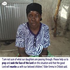 Pray for the parents of the missing Chibok girls. Pray, Parents, Daughter, Men Casual, Girls, Mens Tops, Women, Dads, Toddler Girls
