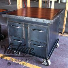 Vintage Industrial 4 File Cabinet3