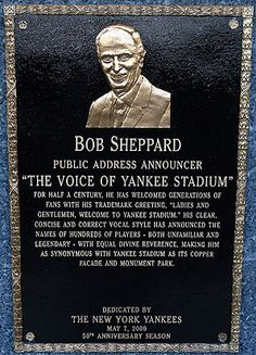 """The Voice of the NY Yankees......""""Now Batting....#2 Derek Jeter.............#2."""