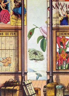 '`commonplaces` - mädchen, tod und teufel', collage von Max Ernst (1891-1976, Germany)