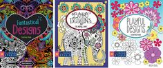 Coloring books by quilters and fabric designers