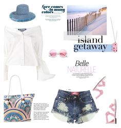 """Chic Island Getaway"" by slavicabojanovic ❤ liked on Polyvore featuring Rip Curl, Tiffany & Co., ZeroUV, Jacquemus, Any Old Iron, Eric Javits and islandgetaway"