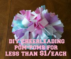 DIY Cheerleading Pom-Poms More