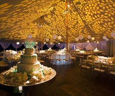A different way to highlight a tent. Final Summer Wedding by Colin Cowie | Calligraphy by Jennifer