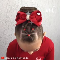 HAIRSTYLE Easy hairstyle with elastics for little ones!Easy hairstyle with elastics for little ones! Toddler Hair Dos, Easy Toddler Hairstyles, Easy Little Girl Hairstyles, Girls Hairdos, Cute Little Girl Hairstyles, Baby Girl Hairstyles, Braided Hairstyles, Simple Hairstyles, Kids School Hairstyles