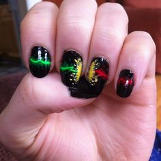 Pin for Later: 18 Harry Potter Nail Art Designs That Will Cast a Spell on You Priori Incantatem