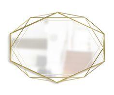 UMBRA Prisma Brass Mirror – Stacks Furniture Store