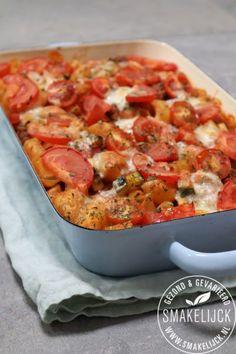 Ovenpasta Tomaat – Mozzarella Maaltijdmix #zonder pakjes en zakjes! Easy Smoothie Recipes, Easy Smoothies, Good Healthy Recipes, Healthy Cooking, Healthy Snacks, Vegetarian Recipes, Fodmap, Tomate Mozzarella, Veggie Delight