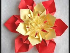ORIGAMI FLOR - YouTube