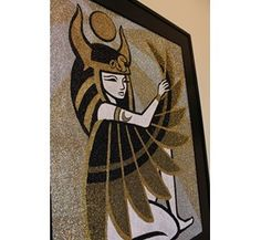 Egyptian goddess Isis-11 Main Isis Goddess, Egyptian Goddess, Glitter Art, Moose Art, Painting, Animals, Inspiration, Biblical Inspiration, Animales