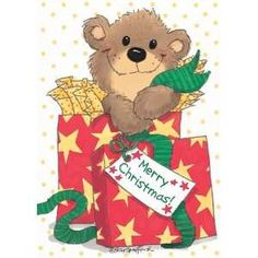 Suzy's Zoo Artist Suzy Spafford Christmas Teddy Bear, Christmas Animals, Christmas Art, Homemade Christmas, Suzy, Zoo Clipart, Zoo Art, Teddy Bear Pictures, Decoupage