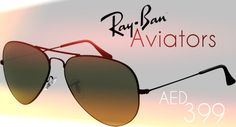 Ray-Bans have been the King of Aviators since many years now and we are giving you a chance to own those Classic Aviators (Polarized). For only AED 399 bag yourselves a cool & stylish look you deserve!