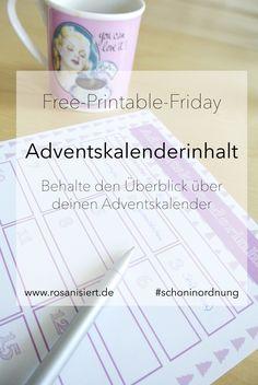 Free-Printable Friday – Adventskalenderinhalt