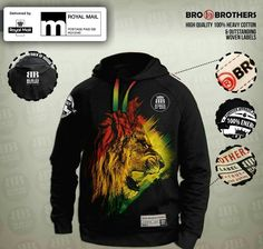 RASTA Lion  Hoodie 100% Cotton  in Clothes, Shoes & Accessories, Men's Clothing, Hoodies & Sweats | eBay!