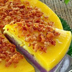 How to make Special Sapin-Sapin | Foxy Folksy Ripe Jackfruit, Jackfruit Recipes, Make Coconut Milk, Toasted Coconut, Filipino Dishes, Filipino Desserts, Sapin Sapin Recipe, Ube Jam, Juicy Fruit Gum
