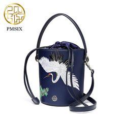 07fff615a8 2018 Desinger shoulder bags women spring and summer new original design  Embroidery leather bucket bag Messenger bag