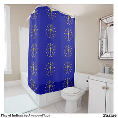 Flag of Indiana Shower Curtain