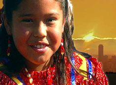 Portrait of a young Native American girl