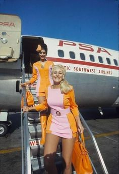 Pacific Southwest Airlines Stewardesses, 1972