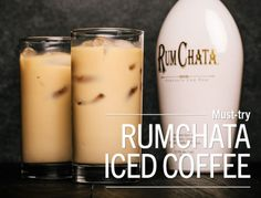 RumChata Iced Coffee Spike your coffee with RumChata liqueur for a delicious, Caribbean-inspired treat! To make, fill a tall glass ⅔ full with ice. Add 2 ounces of RumChata (available at our Wines &. Rumchata Drinks, Rumchata Recipes, Liquor Drinks, Cocktail Drinks, Alcoholic Drinks, Party Drinks, Holiday Drinks, Fun Cocktails, Melitta Coffee Maker
