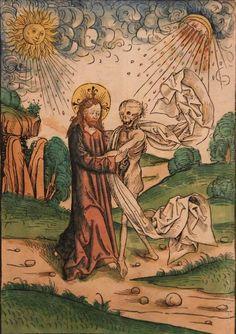 Christ with Death – Michael Wolgemut [German 1434-1513] 1491/