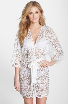 Natori 'Boudoir' Lace Robe available at #Nordstrom