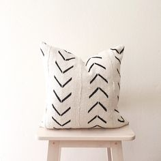Pillows Hand Painted Pots and Home Decor by PopUpGreens on Etsy Cotton Linen Fabric, Mudcloth Pillow, Linen Fabric, Pillows, Mud Cloth, Painted Pots, Arrow Pillow, Orange Couch, White Accent Pillow