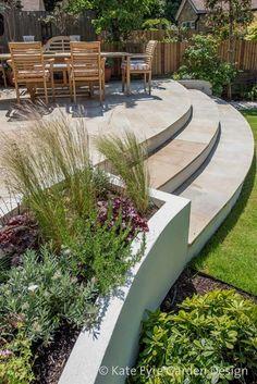 Medium-sized back garden design in Wandsworth, 2  #GardeningDesign