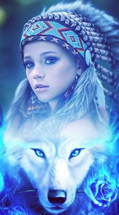 Greek Goddess Art, Goddess Of Love, Apache Native American, American Indian Art, Wolf Photos, Wolf Pictures, Wolves And Women, Wolf Painting, Fantasy Wolf