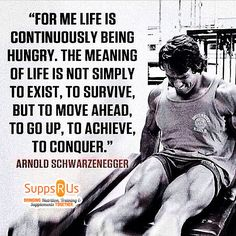 Arnold's Quote  www.suppsrus.com.au  #Fitness #Gym #Protein #Suppsrus