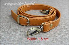 1 pc 118x1.2/1.5/1.8cm Adjustable double-deck Leather Purse Straps,handbag straps,Bag Strap,leather straps,Apricot leather buckle strap