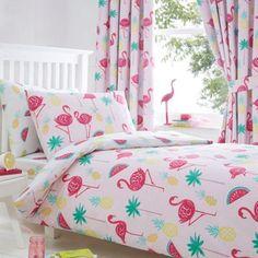 bluezoo Flamingos duvet set-   Debenhams