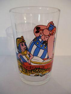 "verre a moutarde illustré ancien""asterix""1968 in Céramiques, verres, Verre, cristal, Verre, Verres, chopes | eBay"