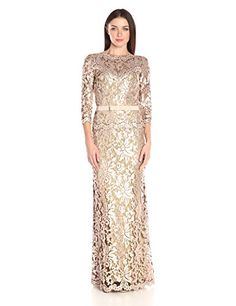 online shopping for Tadashi Shoji Women's Sequin Embroidered Gown With Sleeve Belt from top store. See new offer for Tadashi Shoji Women's Sequin Embroidered Gown With Sleeve Belt Sequin Evening Gowns, Pink Evening Dress, Lace Ball Gowns, Sequin Gown, Formal Dresses For Women, Casual Dresses, Fashion Dresses, Girls Dresses, Bride Dresses