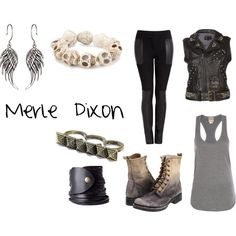 (I would wear every one of these sets.)     The Walking Dead Character Sets- Merle Dixon, created by jj95 on Polyvore