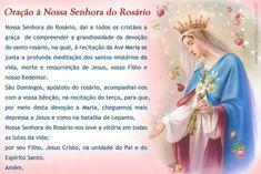 Oração à Nossa Senhora do Rosário Nossa Senhora do Rosário, dai a...
