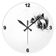 """If you love watching squirrels playing and working in your back yard, you'll love the """"Gray Squirrel"""" clock. It needs only the quarter hours to decorate it since it has all the decoration it requires with a squirrel pausing to think before going off on its next adventure."""