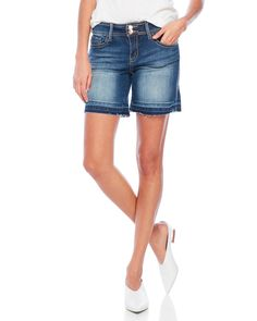 Seven7 Jeans Distressed Denim Shorts