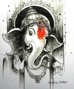 50 Beautiful Ganesha Tattoos designs and ideas With Meaning Arte Ganesha, Ganesha Sketch, Ganesha Drawing, Lord Ganesha Paintings, Krishna Painting, Shri Ganesh, Lord Shiva, Ganesh Lord, Ganesha Tattoos