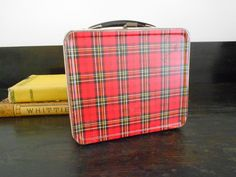 Vintage Red Plaid Lunch Box-I had one of these....