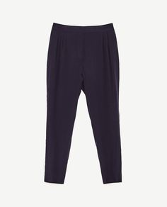 Image 8 of CROPPED FLOWING TROUSERS from Zara