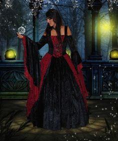 Gwendolyn Medieval or Renaissance Wedding Gown by RomanticThreads, $465.00